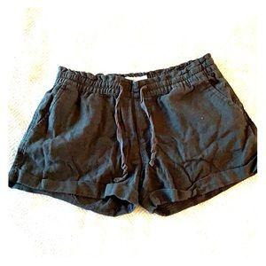 Black Linen Old Navy Short
